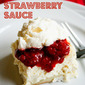 Blintz Casserole with Strawberry Sauce