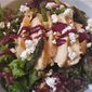 Grilled Chicken and Asparagus Salads with Rhubarb-Blueberry Dressing