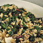 Warm Barley and Chard Salad, Bonnie and Guapa tell tales