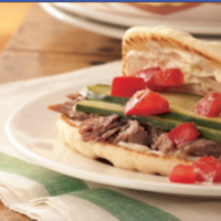 Slow Cooker Greek Pork Sandwiches