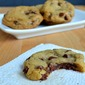 Fudge Stuffed Chocolate Chip Cookies