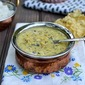 Patli Dal (Yellow Split Peas & Kale in a Yogurt-Peanut Sauce)