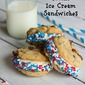Chocolate Chip Cookie Ice Cream Sandwiches #chocolateparty