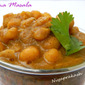 Chana Masala (No added onion and garlic, made of dry roasted coconut paste)