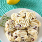 Cherry Lemon Rosemary Shortbread Cookies