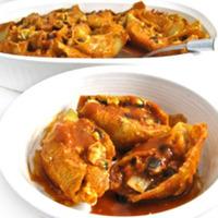 Skinny Chicken Enchilada Stuffed Pasta Shells