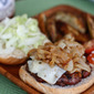Grilled Barbecue Bison Burger