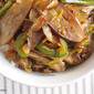 Vegetable Stir Fry Recipe with Fairy Tale Eggplant, Green Bell Pepper and Shiitake Mushrooms