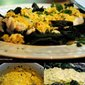 Cod and Kale with a Spicy Mustard Sauce