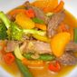 Grilled Beef and Vegetable Stir-Fry with Mandarin Orange Sauce