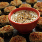 Battle of the Bloggers - Za'atar and Sesame Zucchini Bites with a Sesame Lemon Dipping Sauce