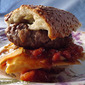 Hamburgers with Fresh Tomato and Onion Relish