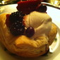 Puff Pastry Cups with Vanilla Ice Cream & Berries