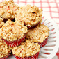Strawberry Rhubarb Crunch Muffins