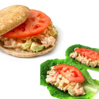 Skinny Buffalo Chicken Sandwiches and Low Carb Lettuce Wraps