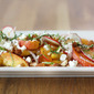 Peach and Radish Salad with French Feta and Almonds