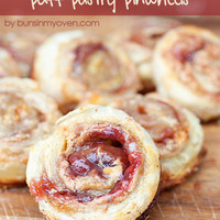 Peanut Butter and Jelly Puff Pastry Pinwheels