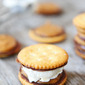 Ritz Cracker Chocolate Peanut Butter Ice Cream Sandwiches