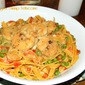 Lite Coconut Parmesan Lobster Fettuccine with Grilled Shrimp