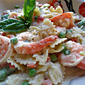 Quick and Easy Shrimp and Pasta Primavera