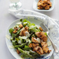 Green Asparagus Chicken Caesar Salad with Honey Pecan Nuts