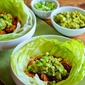 Slow Cooker Pulled Chicken (or pork) Lettuce Wraps Recipe with Low-Sugar Barbecue Sauce