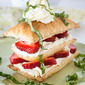 Easy Strawberry Basil Napoleons