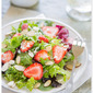 Baby Lettuces with Feta, Strawberries & Almonds