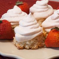 Coconut Macaroons w/ Fresh Strawberry Whipped Cream