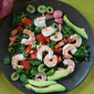 Wilted Kale Salad with Shrimp and Avocado