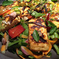The recipe for my best salad ever - Grilled paneer salad with edible flowers