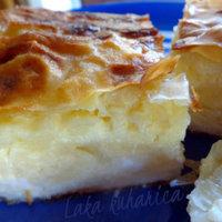 Sour milk and feta cheese phyllo pie
