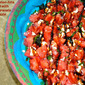 Watermelon-Feta Salad with Pomegranate Drizzle...Farmers Market/Local Food #SundaySupper