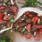 Ground Lamb Pitas with Tomato-Mint Salad