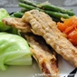 Tempura Pilchards Served With Cabbage Parcels Recipe