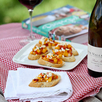Sweet Nectarine Crostini Recipe with Feta Cheese