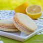 #91) Lemon Poppyseed Sandwich Cookies with Strawberry Cream Cheese Filling