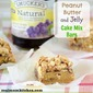 Peanut Butter and Jelly Cake Mix Bars