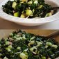 Chopped Kale Salad with Apples, Cucumbers and Ham
