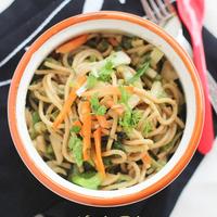 Noodle (Pasta) Salad with Ginger Peanut Dressing Recipe