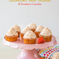 Caramelised White Chocolate Cupcakes with Roasted Strawberry Buttercream