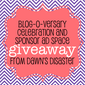 @dawns_disaster Blog-O-Versary #Giveaway