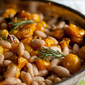 White Beans with Rosemary, Tomato Candy, & Roasted Garlic {A 5:2 Diet Dinner}