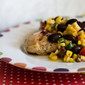 Southwest Chipotle Chile-Grilled Chicken Breasts with Grilled Corn, Black Bean and Cherry Tomato Salad