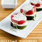 Recipe for Grilled Zucchini Caprese Stacks with Basil Vinaigrette