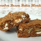 Bourbon Brown Butter Blondies with White Chocolate and Pecans