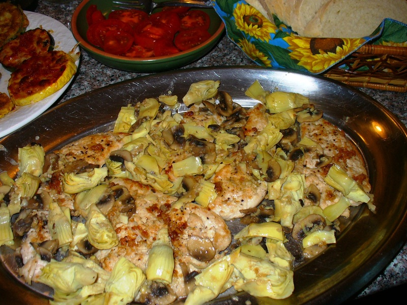 Chicken with Mushrooms and Artichokes Recipe by Lynne - CookEatShare
