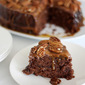 SLOW COOKER TURTLE UPSIDE DOWN CAKE
