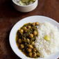 palak chole – spinach with chickpeas