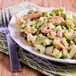 Lemony Shrimp Salad with Avocado, Heart of Palm, and Feta
